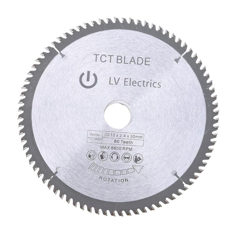 цена на 210mm 30mm 80 Teeth Circular TCT Saw Blade Multi-function General Carbide Tipped Soft/Hard Wood Cutting Tool