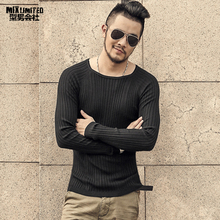 Men christmas knitted sweater o-neck winter warm bottoming p