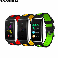 SOONHUA N68 Colorful OLED Smart Wristband Heart Rate Sleep Monitor Band Remote Camera Waterproof Sports Fitness Tracker Bracelet