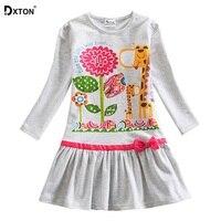 DXTON/Одежда для девочек детское платье с длинными рукавами для девочек, платье принцессы с цветочным рисунком и животным, Vestdios, коллекция 2019 г...