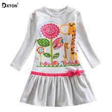 Dxton/Одежда для девочек; Детское платье с длинными рукавами