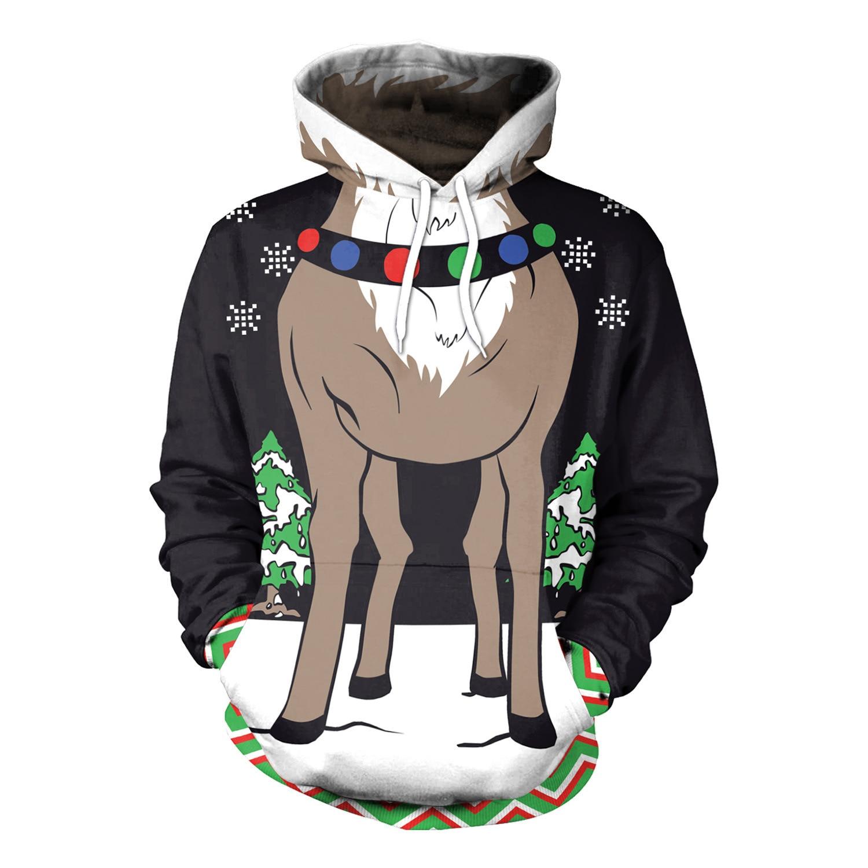 2019 New Hooded Sweatshirt Winter Christmas 3D Printed  Women Sweatshirt  Streetwear  Womens Hoodies Pullover  Womens Clothing