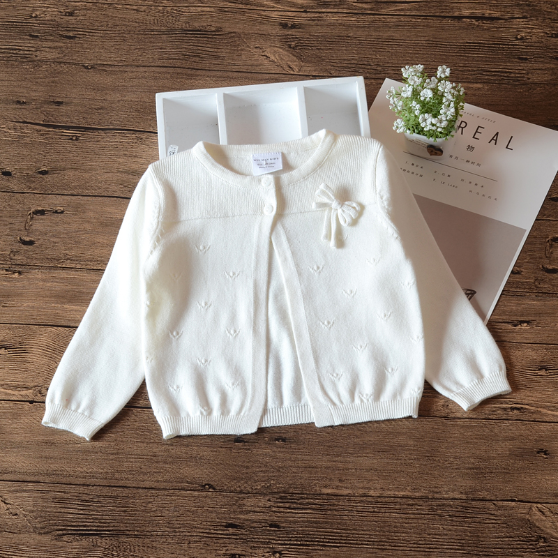 2018 Spring White Girls Outerwear 100% Cottton Cardigan Sweater Kids Girls Jacket Children Clothes For 1 2 3 4 Years Old 1850612018 Spring White Girls Outerwear 100% Cottton Cardigan Sweater Kids Girls Jacket Children Clothes For 1 2 3 4 Years Old 185061
