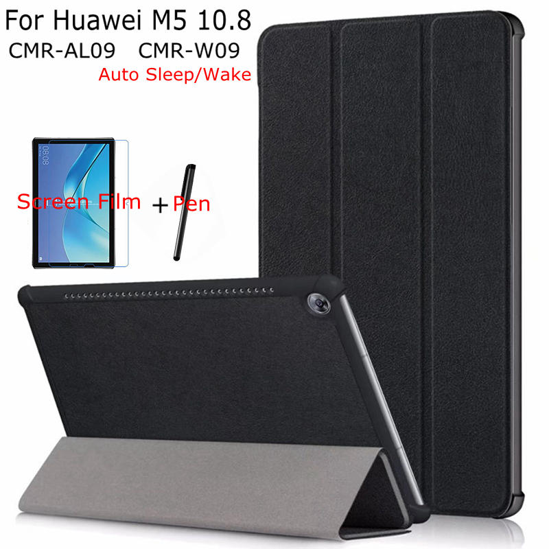 Case for Huawei Mediapad M5 Pro 10.8 Tablet ,iBuyiWin Magnet Stand Smart PU Leather Funda Cover With Auto Sleep/Wake Up+Gifts