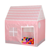 Pink Girls Dream House Portable Kids Play Tents Outdoor Garden Folding Kid Playing Castle 100 70