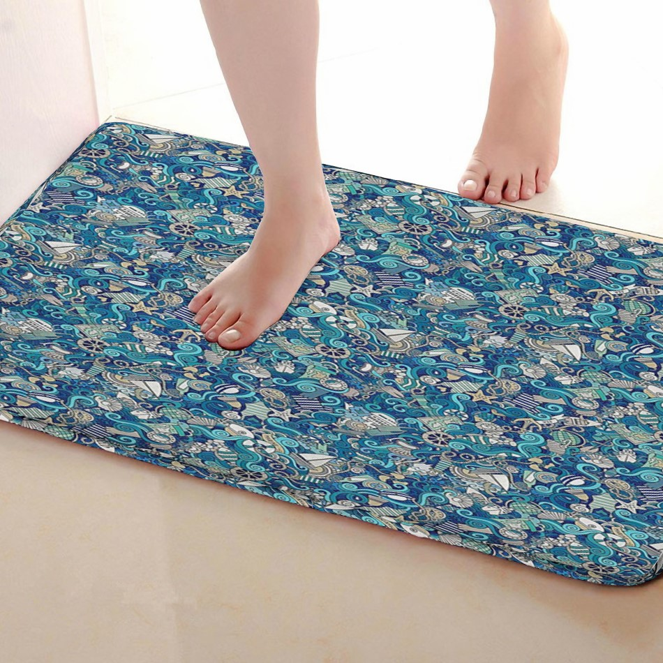 Components Style Bathroom Mat,Funny Anti skid Bath Mat,Shower Curtains Accessories,Matching Your Shower Curtain