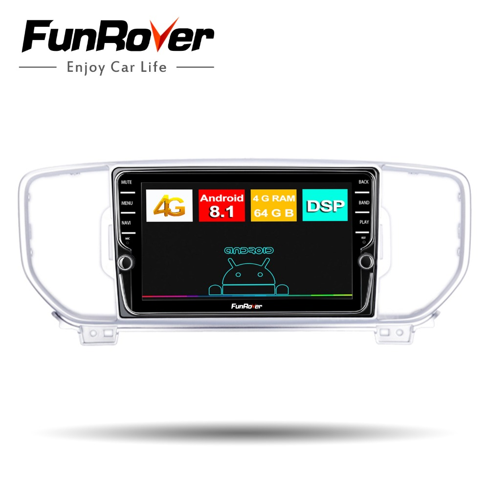 Funrover 8 core android 8.1 2 din car dvd radio multimedia player Fit KIA Sportage kx5 2016 2017 gps navigation DSP 4G SIM WIFI Funrover 8 core android 8.1 2 din car dvd radio multimedia player Fit KIA Sportage kx5 2016 2017 gps navigation DSP 4G SIM WIFI
