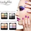 Profissional de 4 cores da moda glitter eyeshadow palette naked maquiagem brilhante sombra de olho com pincel de maquiagem cosméticos naturais