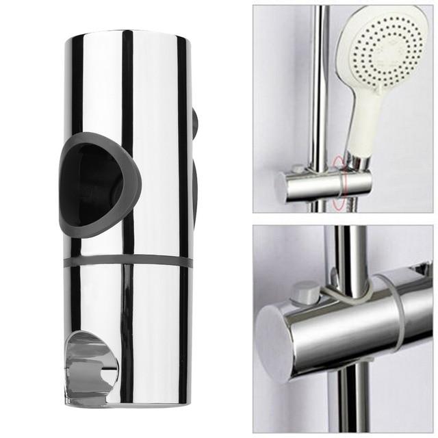 25mm ABS Chrome Replacement Shower Head Rail Slider Holder Adjustable Riser  Bracket Rack Slide Bar Bathroom