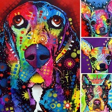 Diamond Painting Dog Animal Full Square 5d Diy Diamant Abstract Cartoon Embroidery Art Kits Home Decor Gift Y26
