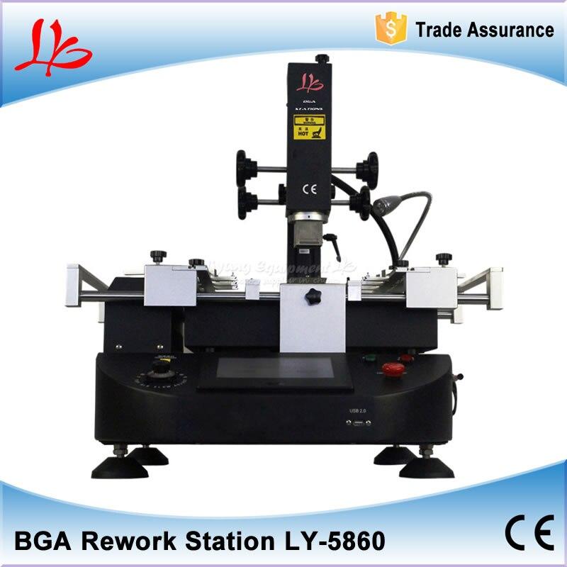 все цены на  LY-5860 lcd touch screen BGA Rework Station hot air 3 zones for Laptop Motherboard Chip Repair  онлайн