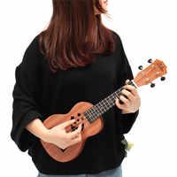 """Zebra 21"""" Sapele Star Pattern Ukulele 4 Nylon Strings Hawaii Mini Guitar Uke Fingerboard Rosewood Ukelele Music Instruments"""