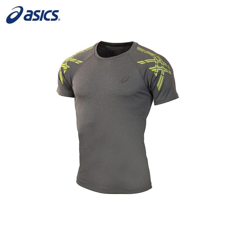 Male T-Shirt ASICS 141199-0773 sports and entertainment for men men s korean version flaming sports car printing pattern short sleeve t shirt grey size xl