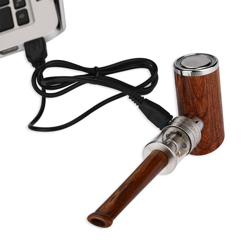 Original Kamry K1000 Plus E-Pipe Kit E-cigarette with Extra 5pcs K1000 Plus Atomizer Coil Wooden E Pipe Mod and 1100mAh Battery