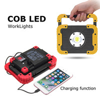New 10W Chargeable Working Light 4400MAH COB LED Emergency Lamp Hand Torch Magnetic Camping Tent Lantern Power Bank