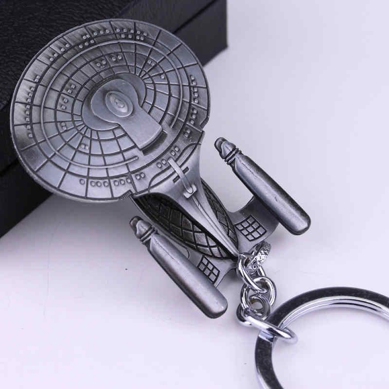 Thiết kế mới Chiến Tranh Giữa Các Vì Sao Trang Sức Falcon Móc Khóa Tàu Vũ Trụ Kim Loại Móc Khóa Porte Clef chaveiro Móc chìa khóa dành cho xe miễn phí vận chuyển