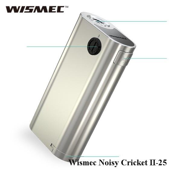 Оригинальный wismec шумный Крикет II-25 поле mod VAPE электронная сигарета обновленная версия шумных Крикет mod без 18650 Батарея