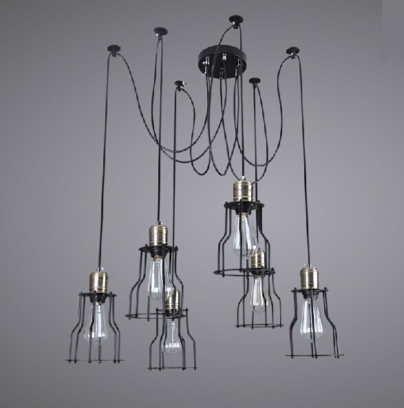 pendant lights American country Retro industry rural industrial creative restoring ancient ways American meals  ZZP