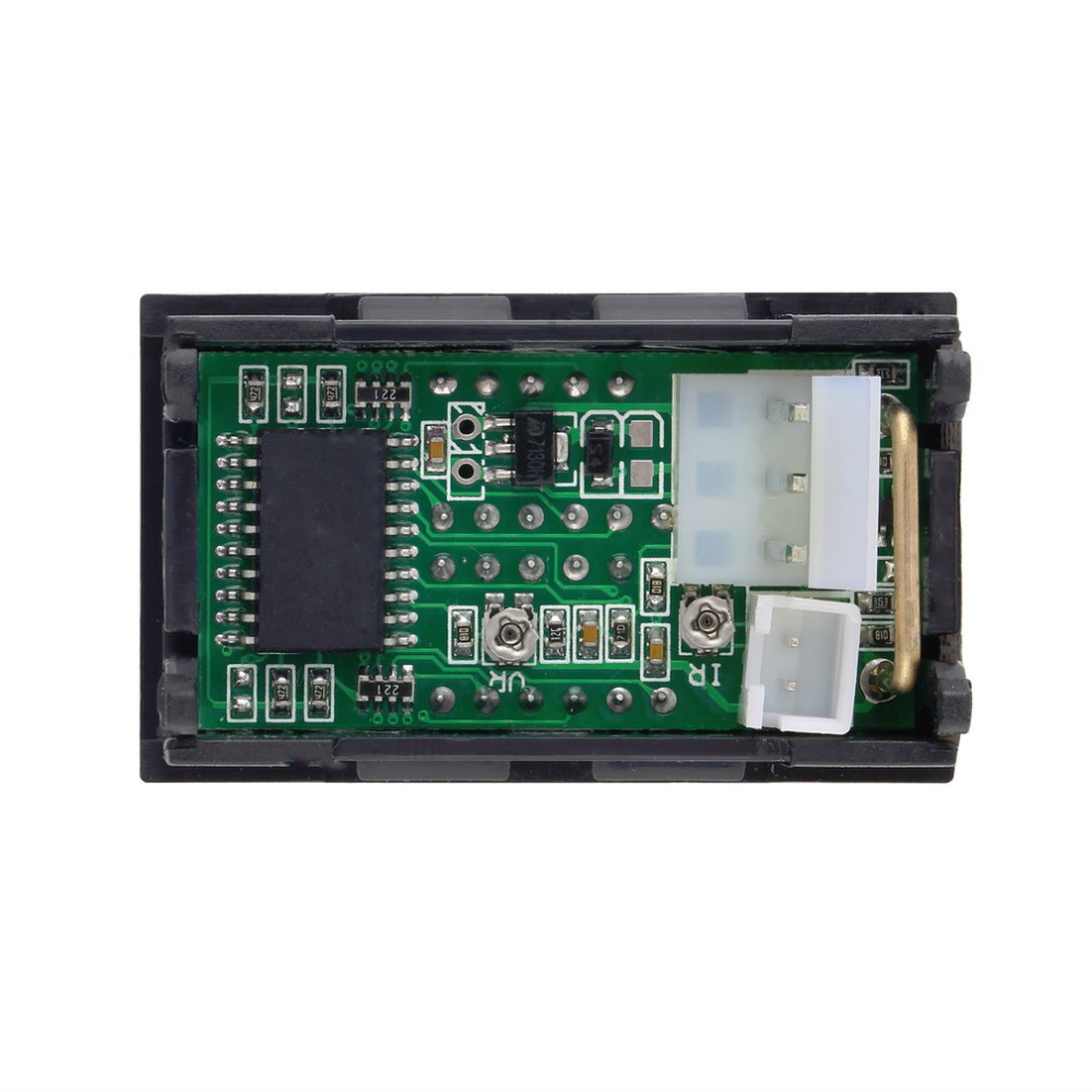 medium resolution of dc 100v 10a voltmeter ammeter blue red led amp dual digital volt drock dc amp meter wiring diagram