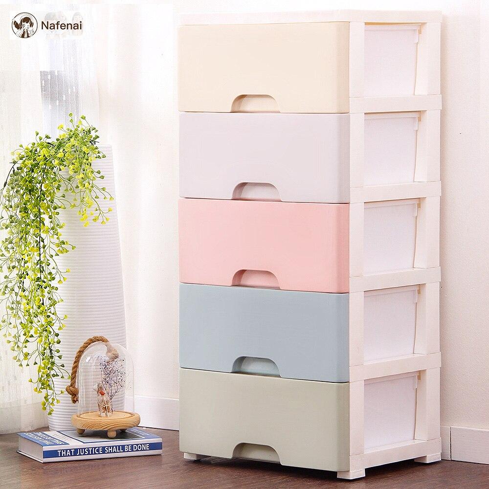 Rangement tiroirs organisateur avec 5 tiroirs armoire placard pour enfants boîte pour jouets pour épicerie boîte de rangement cuisine boîte de rangement