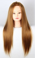 Hot sale Long hair mannequin heads dummy mannequin head with hair styling mannequins hair dolls with stand free shipping