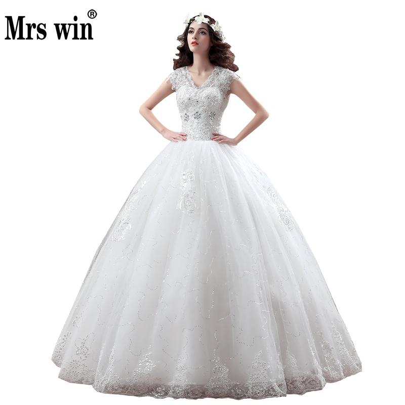 New Arrive Korean Style Large Size Wedding Dress Lace Embroidery Wedding Dress Custom Made Size 002