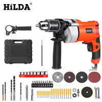 HILDA Impact electric drill Electric Rotary Hammer with BMC and 5pcs Accessories Impact Drill Power Drill Electric Drill