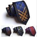100% de seda Listrada Vertical de alta qualidade 2016 moda do laço do pescoço para designers homens cravate 6 cm corbata seda hombre magro cravates