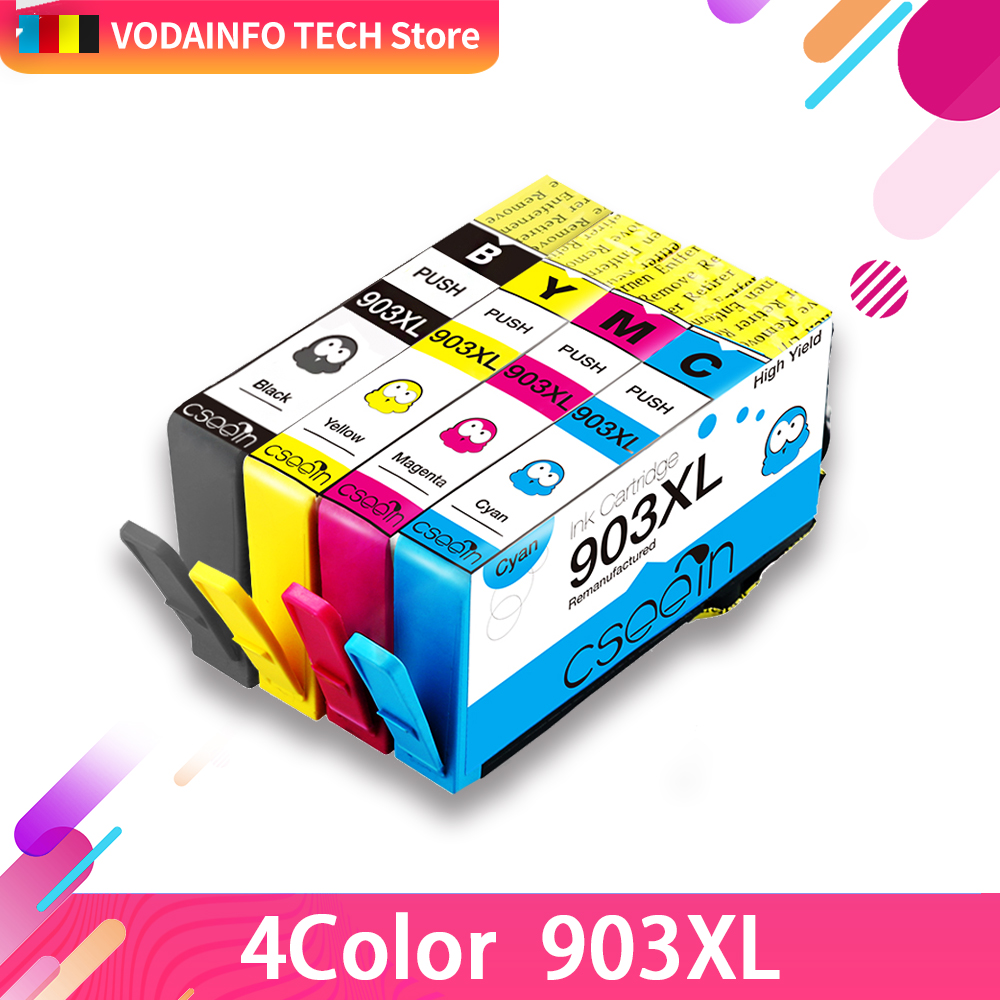 QSYRAINBOW 4color 903XL compatible for HP903 XL compatible for HP903 907 xl OfficeJet 6950 6960 6970