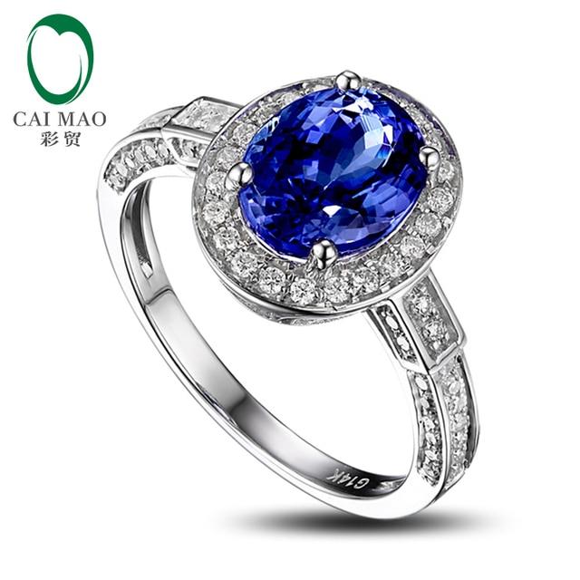 2.42ct intermitente Violeta Azul Tanzanita Diamante Anillo de Compromiso Real 14 k Oro