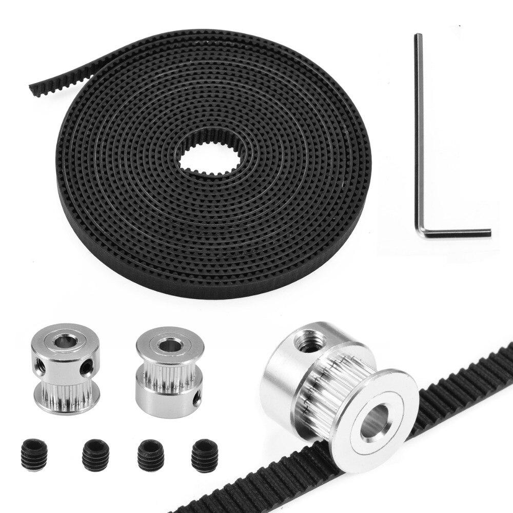 GT2 Aluminum Timing 15 Tooth 5mm Bore for Pulleys RepRap Prusa Mendel 3D Printer
