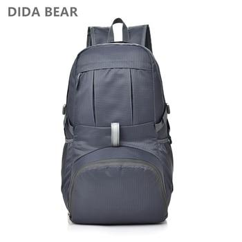 DIDABEAR New Male Travel Backpack Waterproof Nylon Bags Men Large Backpacks Boys Lightweight Folded Backbag Foldable Rucksack
