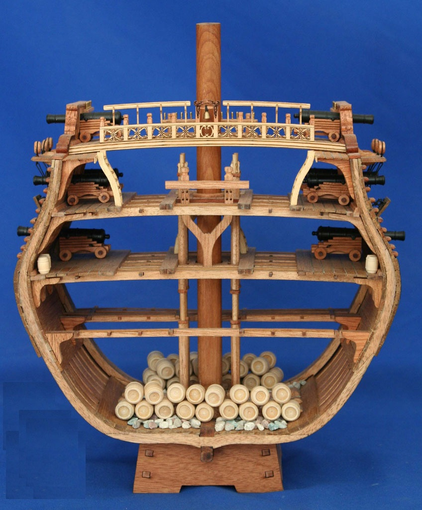 NIDALE Model Scale 1 48 USS Bonhomme Richard section wooden ship model kits