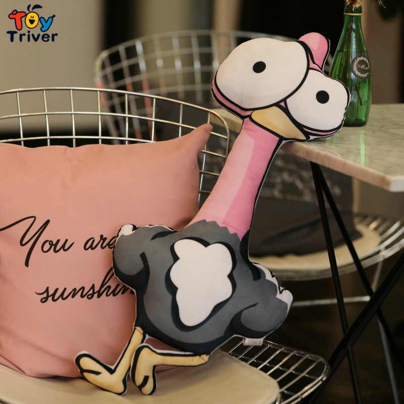 Flamingo zürafa Zebra aslan fil maymun timsah peluş oyuncak doldurulmuş hayvanlar bebek yastık minder bebek çocuk oyuncakları ev dekor