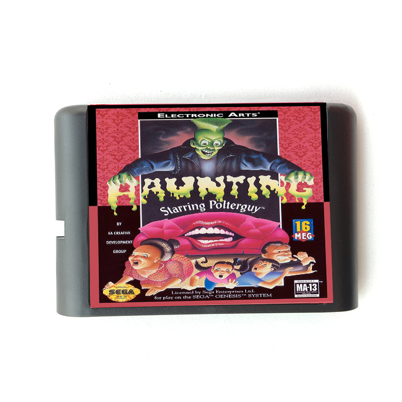 Haunting Starring Polterguy for 16 bit Sega MD Game Card for Mega Drive for Genesis Video Console