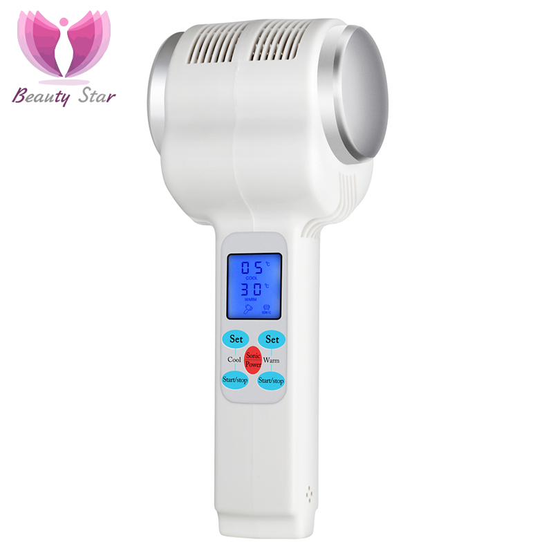 Hot Cold Hammer Ultrasonic Cryotherapy  Lymphatic Face Skin Lifting Tightening Massager Cryotherapy Therapy Beauty Machine mouse