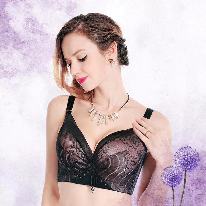 OUDOMILAI Big Size Bras For Women Brassiere plus size women Push Up Bra Large Cup Breasts D E thin Lingerie soutien gorge femme image