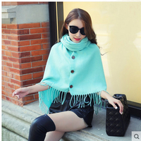 2018 autunno e inverno caldo di spessore imitazione del cachemire Variety sciarpa scialle versione Coreana di frange pulsanti mantello