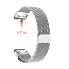 26mm Quick Fit Metal Stainless Steel Watch Band Strap Bracelet for Garmin Fenix 5X Plus/Fenix 3/3 HR/D2/Descent Mk1 Smart Watch цена