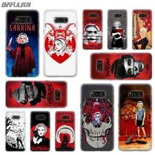 BINFUL case cover hard Transparent for Samsung S9 S8 S7 S6 S5 S4 S10 Edge Plus Mini Galaxy Note 9 8 5 4  Adventures Sabrina