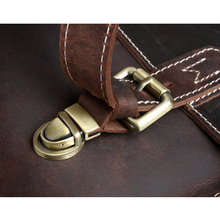 TIDING Men Briefcases Laptop Bag Vintage Style Cross Body Messenger Bag Cowhide Leather New Arrival 1099