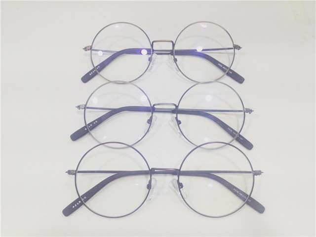 New Edition Including Too Lang Fund Myopia Spectacle Frame Korean Restore Ancient Ways Exceed Light Metal Small Round Glasses