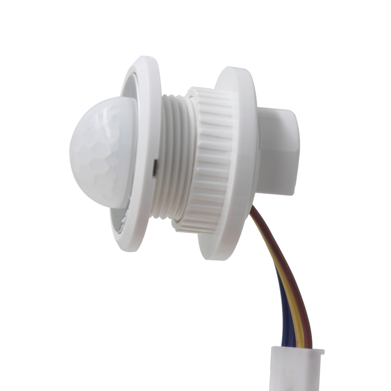 10pcs 40mm Led Pir Detector Infrared Motion Sensor Switch With Time Delay Adjustable Light Dark Sensor & Detector