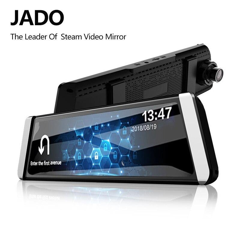 JADO D800 Автомобильный видеорегистратор поток Зеркало заднего вида Камера LDWS gps трек 10 ips Сенсорный экран Full HD 1080 P Автомобильные видеорегистра...