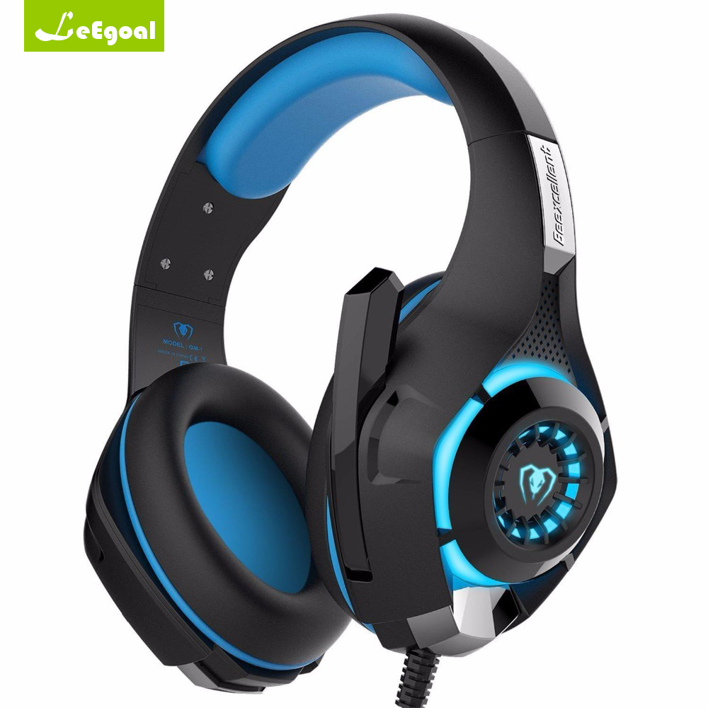 Leegoal GM-1 Gaming Headset Wired Earphone Gamer Headphones with Microphone Stereo Earphone PC Gaming Headphones casque for PS4 купить в Москве 2019