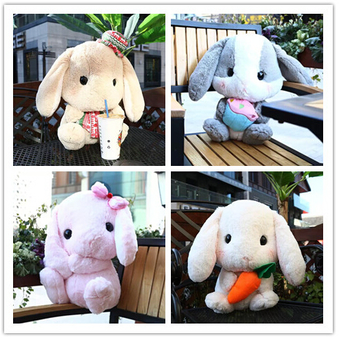 Lolita Plush Rabbit 40cm Cute Soft Lop Bunny Cosplay Princess Sweet Doll Loppy Bunny Shy Bunny Christmas Style Children's Gift