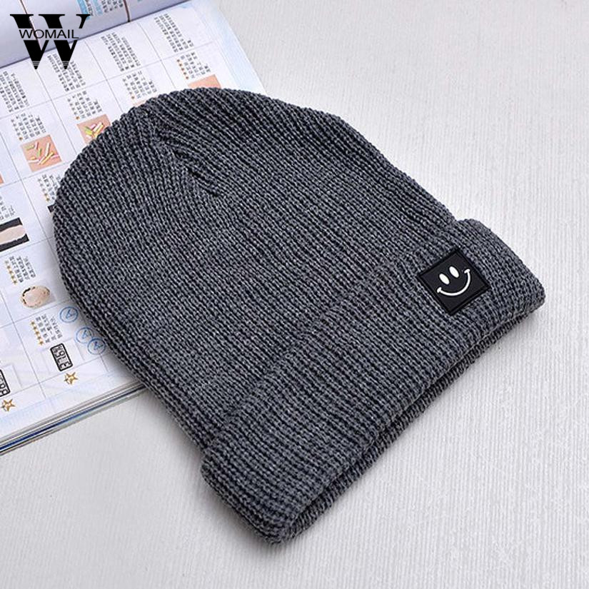 Women Smiling Face Beanies Skullies Warm Knitted Gorros Bonnet Femme Winter Hats Caps For Girl Women 2017 New skullies