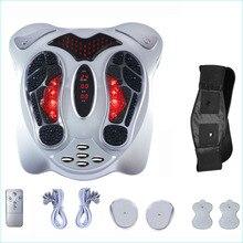 เท้าไฟฟ้านวดอินฟราเรดความร้อน Anio แม่เหล็กไฟฟ้าจุดนวดกดจุดนวดกระชับสัดส่วนเข็มขัด EMS Pad Care