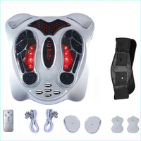 Electric Foot Massager Far Infrared Heat Anio Electromagnetic Points Reflexology Feet Massage Machine Slimming Belt EMS Pad Care