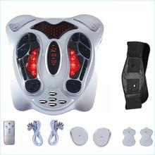 Massageador de pés elétrico, longe, infravermelho, de calor, anio, pontos eletromagnéticos, reflexologia para pés, máquina de massagem, cinto de emagrecimento, ems, cuidados